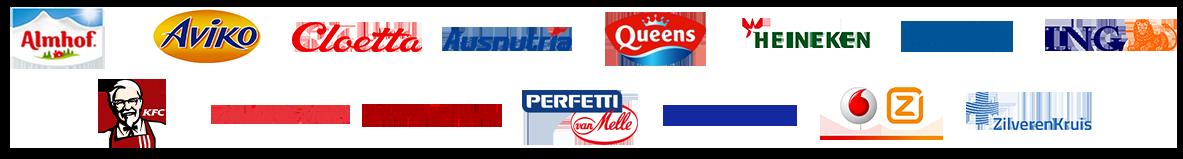 Lijst van klanten: Nestle, Abovo Media, Sony, Almhof, Philips en Verstegen